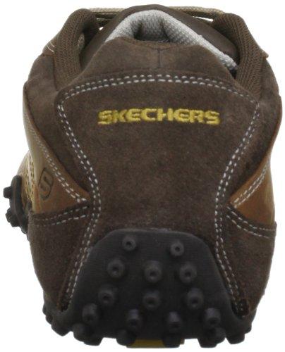 Zapatillas de de hombre deporte cuero para Marrn Skechers Zwz8dqZ