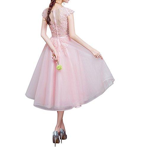 Abiballkleider Romantisch La Spitze Rosa Abschlussballkleider Marie Braut Abendkleider Cocktailkleider fw7Yq