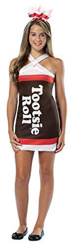 UHC Girl's Tootsie Roll Teardrop Funny Theme Fancy Dress Teen Halloween Costume, Teen (13-16) - Tootsie Roll Costume Child