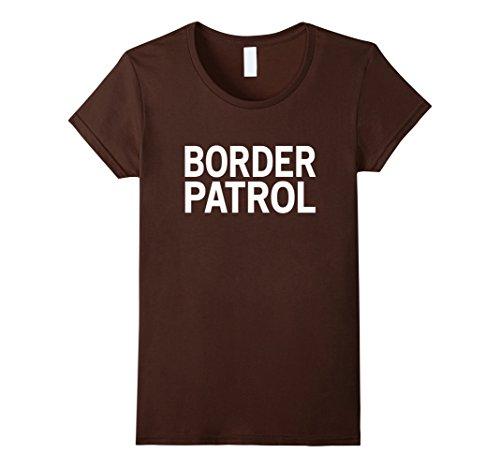 Border Patrol Halloween Costumes (Womens BORDER PATROL Halloween Costume for Adults Large Brown)