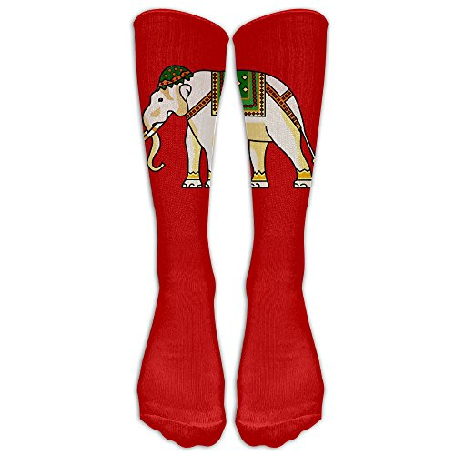 Holy Elephant (Holy India Treasure Elephant Unisex Tube Socks 100% Brand New Elastic Comfortable Knee High Socks Knee Length Socks)