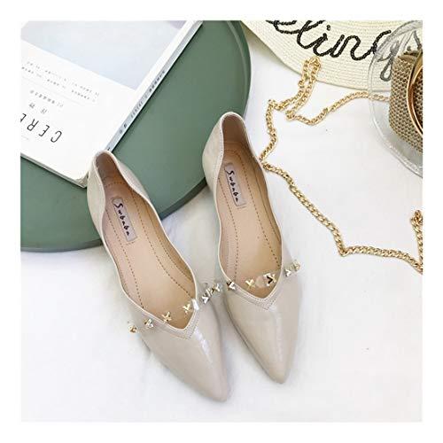 Superficial Lana C Acolchado Zapatos Silvestres Plano del Sharp Fondo Colorear WULIFANG EqtwCt