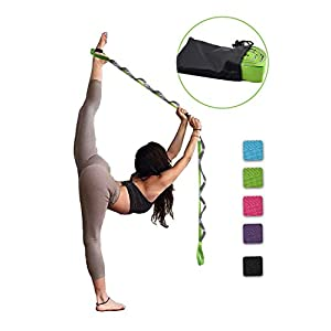 SANKUU Yoga Strap, Multi-Loop Strap, 12 Loops Yoga Stretch Strap, Nonelastic Stretch Strap for Physical Therapy, Pilates…