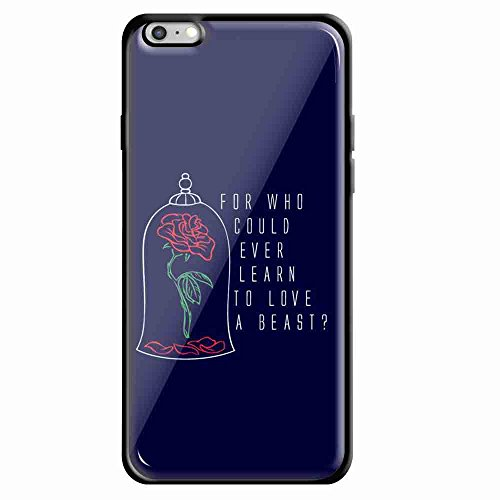 beauty beast quote iPhone Black product image