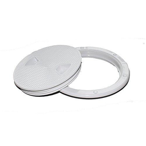 (X-Haibei Round Boat Marine Inspection Hatch Deck Plate Access RV Plastic White (Dia. 8inch))