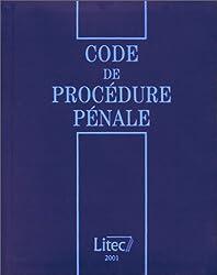 Code de  procédure pénale 2001