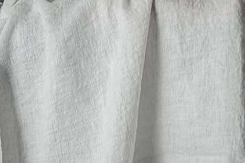 Tela de lino lavado a la piedra blanco puro lino tela de lino por metros –