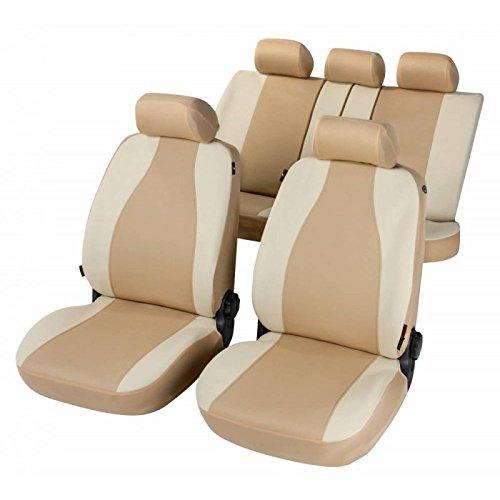 RMG R31V163 coprisedili per PHEDRA fodere auto colore beige chiaro e scuro compatibili con sedili con airbag braciolo e sedili sdoppiabili