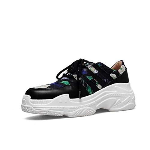 ZHZNVX da Rosso Comfort pelle Nappa in Punta Green Verde Estate donna Scarpe Primavera chiusa Sneakers Creepers r5OF8qr