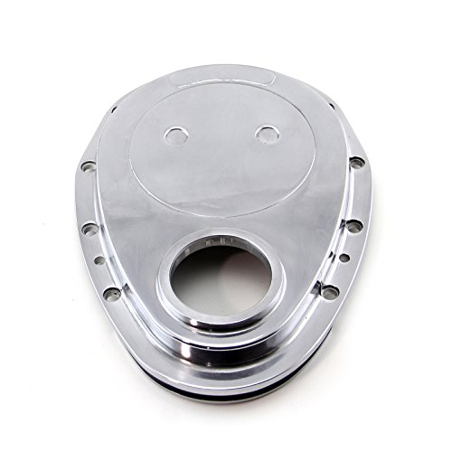 (Procomp Electronics PCE265.1008 Chevy SBC 350 Aluminum Timing Chain Cover Polished 1-Piece)