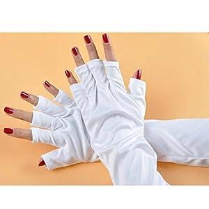 Brendacosmetic Anti-UV Long Gloves for LED Gel UV Nail Dryer Lamps,UV Shield Protective Gloves for Nail Art