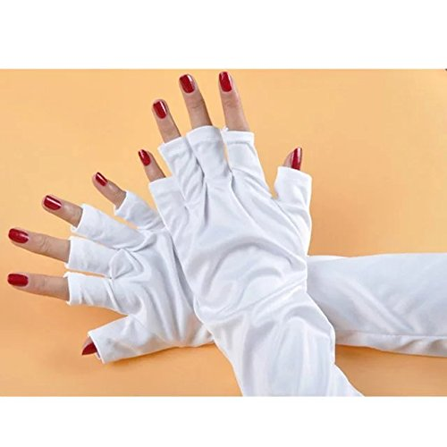 Brendacosmetic Anti-UV Long Gloves for LED Gel UV Nail Dryer Lamps,UV Shield Protective Gloves for Nail - Used Sunglasses Pilots By