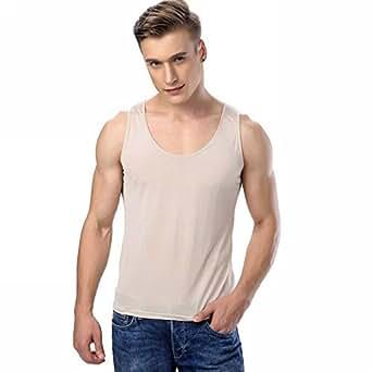 Mens 100 silk knitted basic tank top t shirts at amazon for Mens silk shirts amazon
