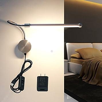 LED-Wandleuchte WAYCOM 6W Gooseneck-Leselicht - USB ...