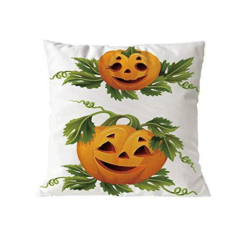 Halloween Pillow Case Pgojuni Throw Pillow Cover Cushion Polyester Cover Pillow Case Home Decor 1pc (45cm X 45cm) (B) by Pgojuni_Pillowcases (Image #1)