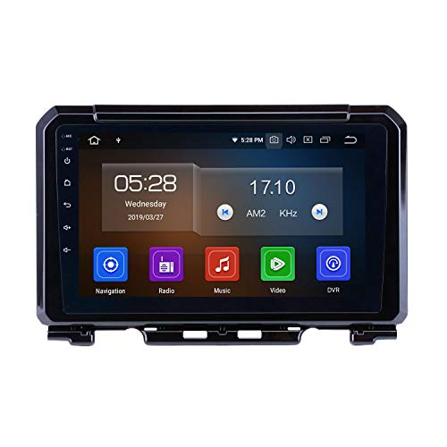 Harfey H2181L-L Android 9.0 Bluetooth Car Radio 9 inch HD Touch Screen Head Unit for 2019 Suzuki JIMNY Stereo Upgrade GPS Navigation Support 3G 4G WiFi Digital TV Rearview Camera (Best Head Unit 2019)