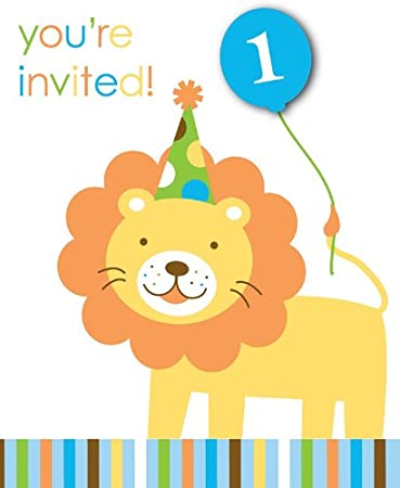 Creative Converting Sweet At One Boys 1st Birthday Party Invitations 8 Count