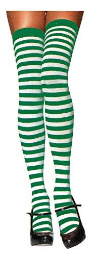 Leg Avenue Womens Nylon Striped Stockings ()