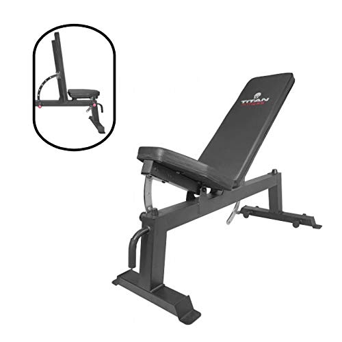 Titan Fitness Adjustable Flat Incline Weight Bench 650 lb Rated Capacity (Best Rated Home Weight Bench)