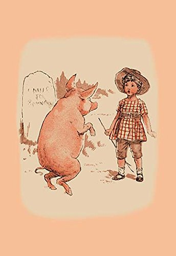 Buyenlarge Pig - Buyenlarge Pig on Hind Legs and Little Girl - 16