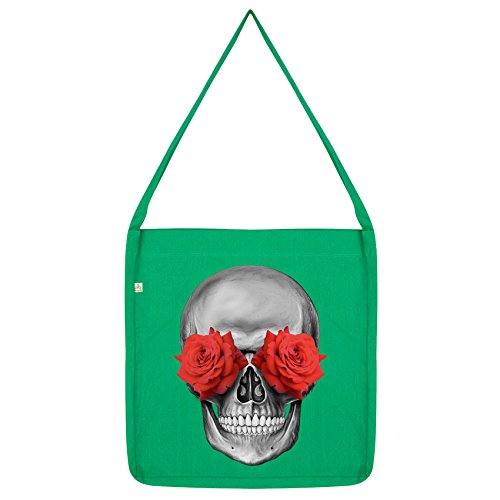 Eye Bag Skull Twisted Rose Envy Green Tote qTvq1BPw