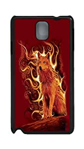 Galaxy Note 3 Cases, Note 3 Cases - Phoenix Wolf PC Plastic Hardshell Case Back Cover for Samsung Galaxy Note 3 N9000 Black