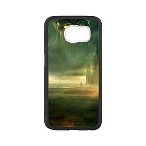 Age Of Conan Unchained funda Samsung Galaxy S6 caja funda del teléfono celular del teléfono celular negro cubierta de la caja funda EVAXLKNBC28982