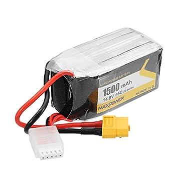 HELEISH MAX Power 14.8V 1500mAh 65C 4S Fuerza Lipo Batería XT60 ...