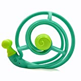 Mombella Snail Teething Rattle Silicone teether Infant Toy Baby Gift, BPA Free Organic Baby Teething Toy