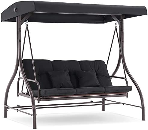 MCombo 3-Seat Outdoor Patio Swing Chair