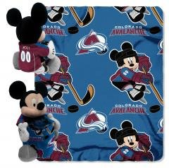 Colorado Avalanche NHL - Mickey Disney 40x50 Cuddly Fleece Baby Throw Blanket Hugger Wrap - Fleece Colorado Avalanche Blanket