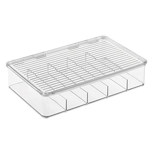 InterDesign Linus - Stackable Drawer Organizer for Glasses - Clear - 10.75 x 7.25 x 2.5 - Sunglass Organizer Drawer
