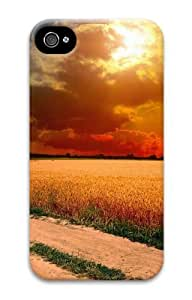 iphone 4 awesome cases Landscapes country road 3D Case for Apple iPhone 4/4S