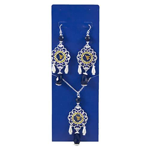 Virginia Mountaineers Baroque Necklace Earring