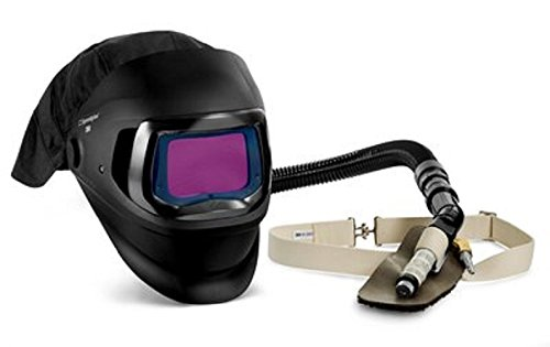 3M Speedglas Fresh-Air III Supplied Air System with V-100 Vortex Air-Cooling valve and Speedglas Welding Helmet 9100 FX-Air, 26-5702-30SWHD with SideWindows, Heavy Duty Breathing Tube and Auto-Darkening Filter 9100XX, Shades 5, 8-13