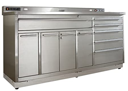 Viper Tool Storage V7206Ugps 72 Inch Ultimate Garage 18G Stainless Steel Workstation And Worktop With
