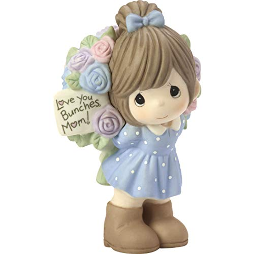 (Precious Moments Love You Bunches Mom Girl Bisque Porcelain 183004 Figurine One Size Multi )