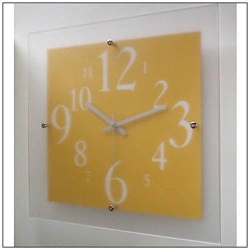 フォーカススリー 置き時計掛け時計 イエロー 33×33×4.6cm 1170507 B01M7SZSS4
