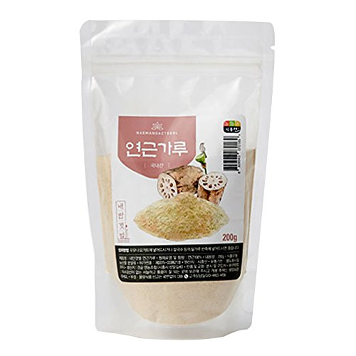 Lotus Root Powder Natural 100% Pure Healthy Fiber Vitamin C Amino Acid Made In KOREA (200)