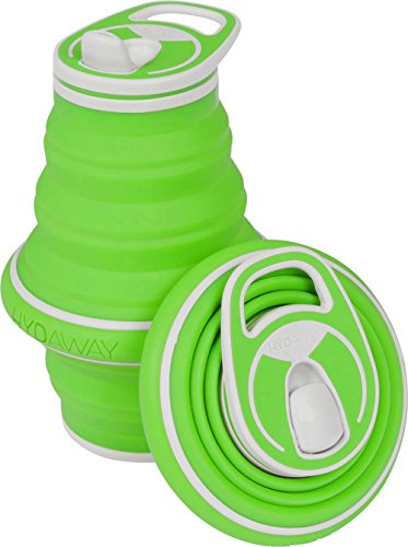 HYDAWAY Collapsible Pocket-sized Travel Water Bottle - 21 oz - Bamboo (Water Collapsible Bottles)