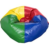 96' Round Vinyl Shiny Bean Bag, Multiple Colors