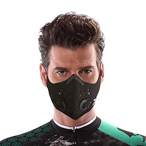 Dust Mask by UTKU   Washable and Reusable Neoprene Mask with 2 Activated Carbon N99 Filters For Outdoor Activities   Face Mask For Woodworking Mowing Running Cycling Winter Sports