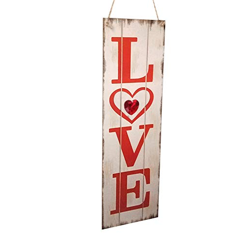 Dds5391 Refined Long Wooden Love Hanging Sign Plaque Home Garden Door Wall Valentine Day Decor - White from dds5391