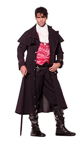 Underwraps Costumes Men's Vampire Costume - Count, Black/Red/White,