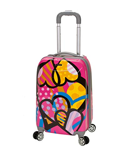 (Rockland Luggage 20 Inch Polycarbonate Carry On Luggage, Love, One Size)