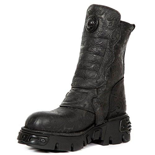 New Rock 373X Unisex NR NEWROCK Boots S25 M Black wYafEXq