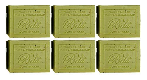 - Bela Pure Natural Soaps Triple Milled Moisturizing Soap Bars, Sulfate Free - Lemon Myrtle with Lemongrass - Made in Australia - Perfect Mothers Day, Anniversary, or Birthday Gift -6 pack -3.5 oz each