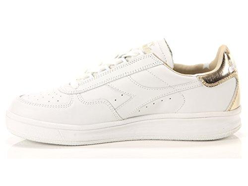 Diadora B Elite Liquide Hommes En Cuir Blanc Lace Up Sneakers Chaussures