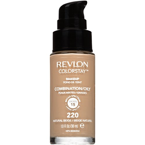 Revlon ColorStay Liquid Foundation For Combination/oily Skin, Natural Beige, 1 Fl Oz