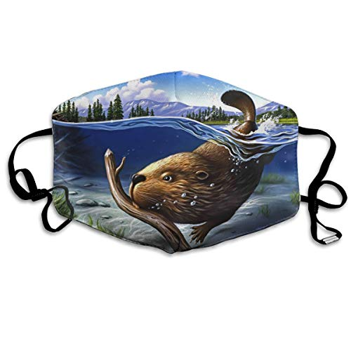 YUANSHAN Dust Mask Busy Beaver Outdoor Mouth Mask Anti Dust Mouth Mask for Man Woman -